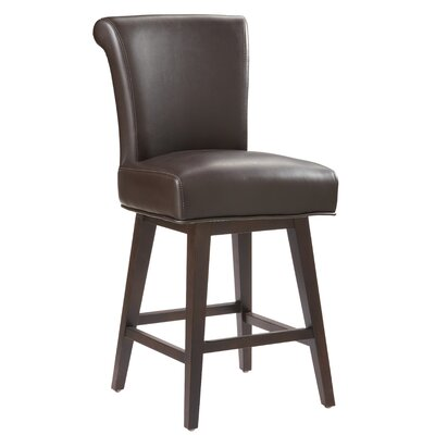 Sunpan Modern Hamlet Swivel Bonded Leather Stool