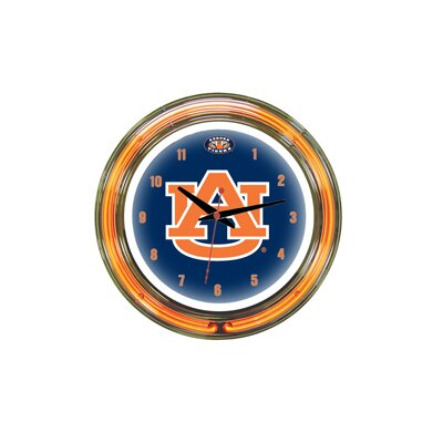 "Wave 7 NCAA 14"" Team Neon Wall Clock"