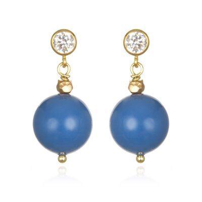 Amanda Rudey Timeless Beauty Crystal Lapis Pearl Kirsten Earrings