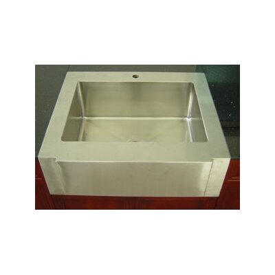 Empire Industries Farm Single Undermount Kitchen Sink with Strainer