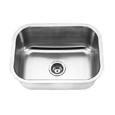 18 Gauge Single Undermount Kitchen Sink
