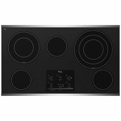 "Whirlpool 36"" Tap Touch Controls Ceramic Glass Electric Cooktop"