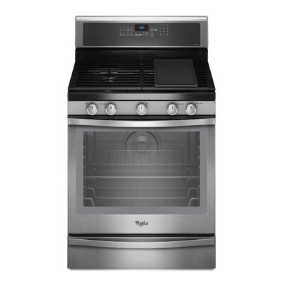 Whirlpool 5.8 cu. ft. Timesavor Plus True Convection Cooking System Gas Range