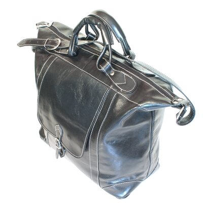 "Floto Imports 16"" Tack Leather Travel Duffel"