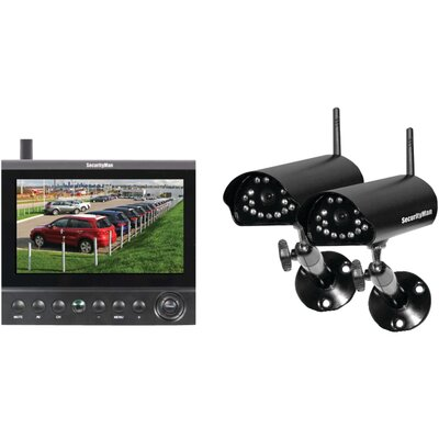 Security Man Digital Wireless Cameras LCD/DVR System