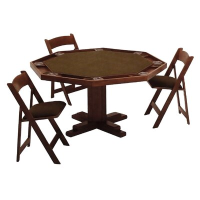 Kestell Furniture 52'' Oak Pedestal-Base Poker Table
