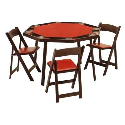 "Kestell Furniture 52"" Oak Folding Poker Table"