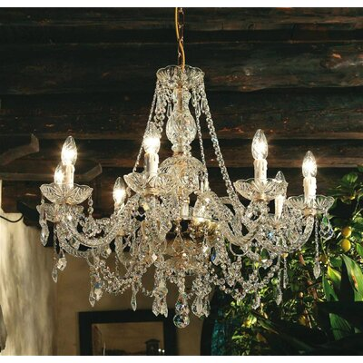 Serenade 8 Light Crystal Chandelier