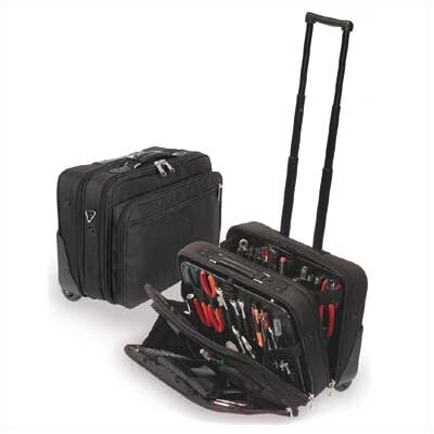 W600 Black Wheeled Tool and Laptop Zipper Case: 9