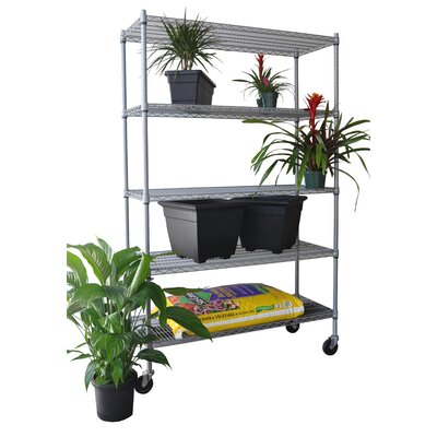 Trinity Five Tier NSF All Weather Shelving Rack