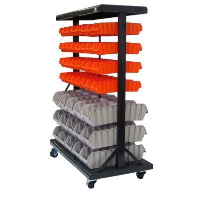 Trinity Dual-Sided Wheeled Mobile Bin Rack