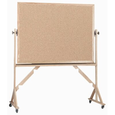 AARCO Reversible Natural Pebble Grain Cork Bulletin Board