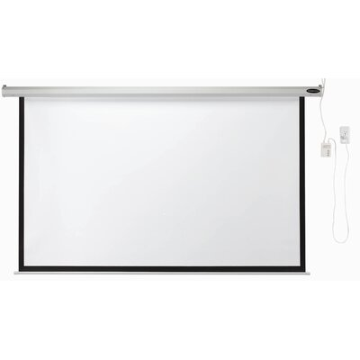 AARCO Motorized Electronically Operated Projection Screen in Matte White