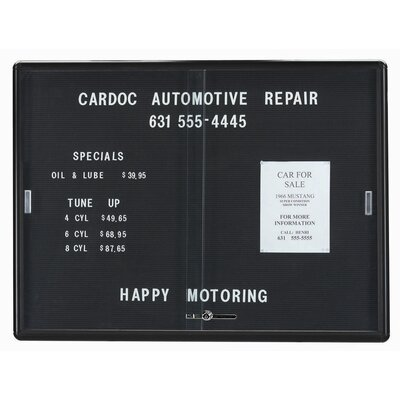 AARCO Enclosed Radius Design Directory Changeable Letter Board