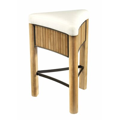 Selamat Bronzewood Fabric Tall Stool