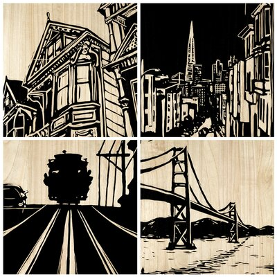 Selamat San Francisco City Panel (Set of 4)