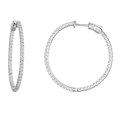 Diamonair Cubic Zirconia Hoop Earring