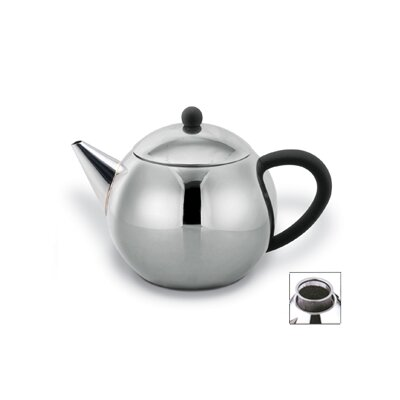 Cuisinox 28 Oz Teapot with Black Handle in Satin