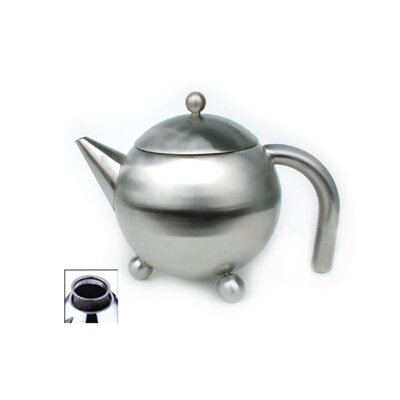 Cuisinox 51 Oz Footed Teapot with Infuser in Satin