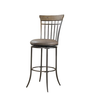 Charleston Spindle Back Swivel Bar Stool in Distressed Desert Tan