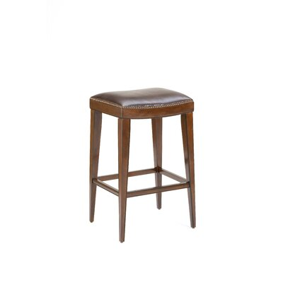 Hillsdale Furniture Riverton Backless Stool in Distressed Rustic Cherry
