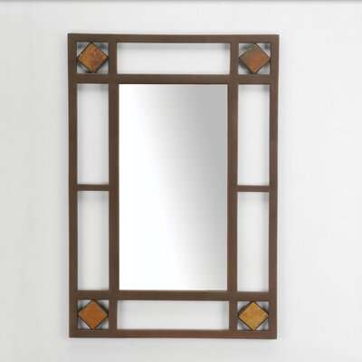 Hillsdale Furniture Lakeview Console Mirror in Metallic Brown
