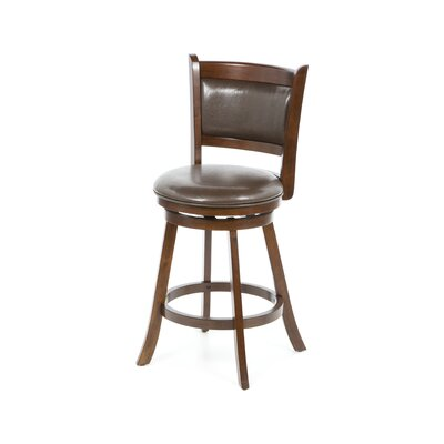 Dennery Swivel Counter Stool in Cherry