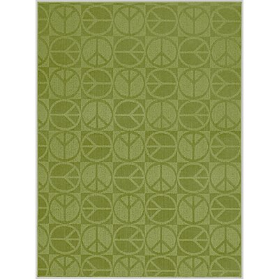 Garland Rug Magic Odor Eliminating Lime Large Peace Rug