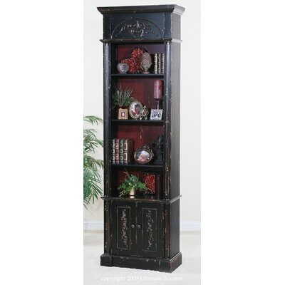 Ultimate Accents Astoria Bookcase in Distressed Black