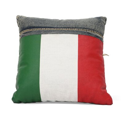 Zuo Era Cowboy Denim Italy Flag Cushion
