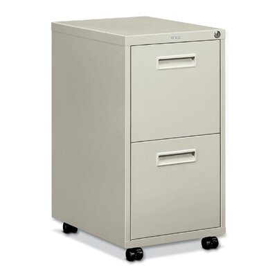 "Basyx by HON Embark Series File/File Pedestal File with 2 ""M"" Pull Drawers"
