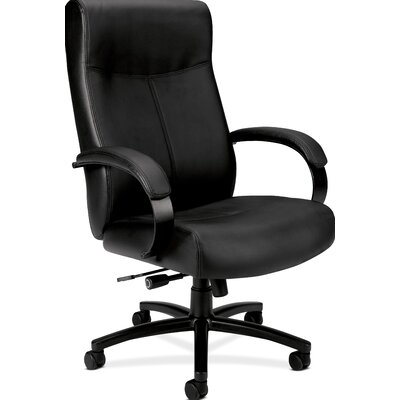 Basyx by HON High-Back Leather Big and Tall Office Chair