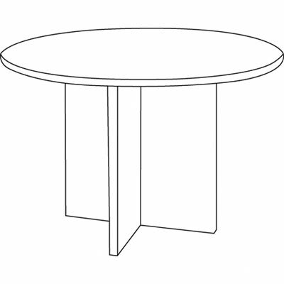 Basyx by HON BL Laminate Series Round Conference Table