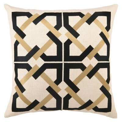 Trina Turk Residential Geometric Tile Linen Pillow
