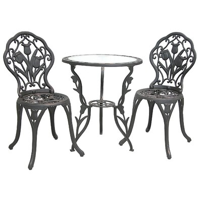 Innova Hearth and Home Tulip 3 Piece Bistro Set
