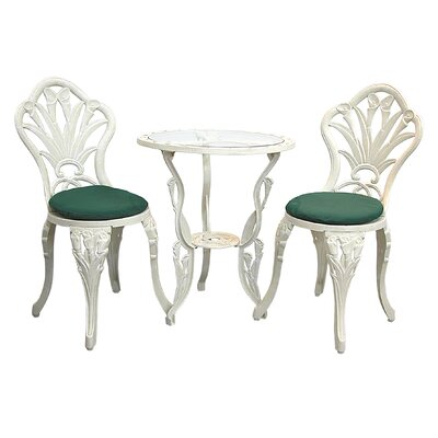 Innova Hearth and Home Calla Lily 3 Piece Bistro Set