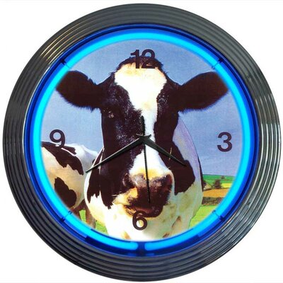 Neonetics Retro Cow Neon Clock