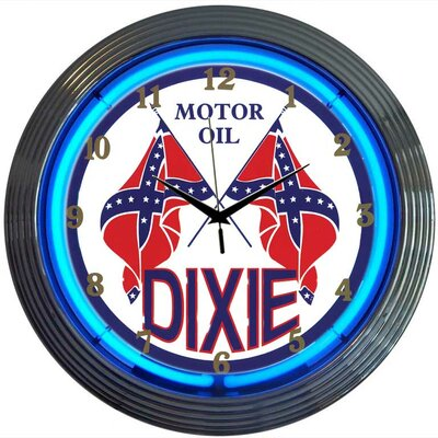 Neonetics Dixie Motor Oil Neon Clock
