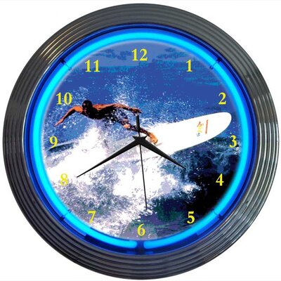 Neonetics Surfing Neon Clock