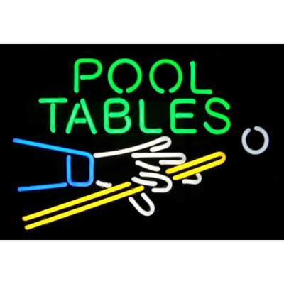 Neonetics Pool Tables Neon Sign