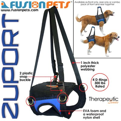 Fusion Pet Zupport Theraputic Rear Dog Harness
