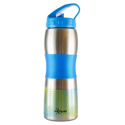 Cheeki Cheeki 600ml 20oz Wide Mouth Ergonomic Stainless Steel Sports Water Bottle - BPA Free