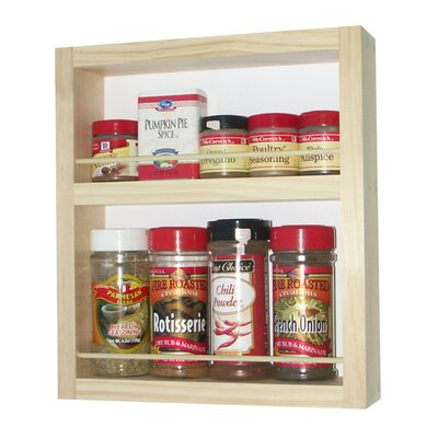 "WG Wood Products On the Wall Spice Rack 3.5"" Deep"