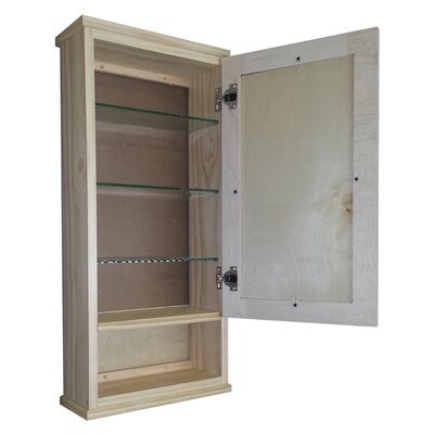 "WG Wood Products Shaker Series 31.5"" x 15.25"" Wall Mount Medicine Cabinet"