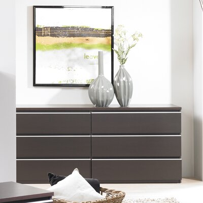 Tvilum Tucson Bedroom 6 Drawer Double Dresser