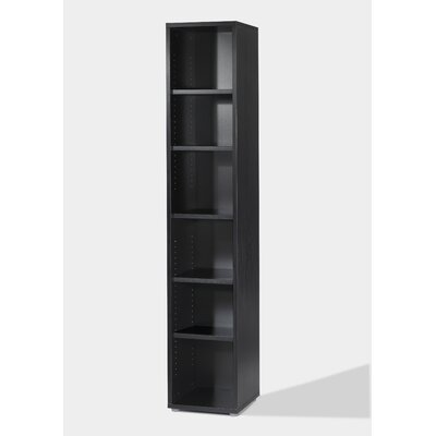 Tvilum Fairfax Tall Narrow Bookcase in Black Woodgrain