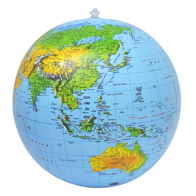 Jet Creations Topographical Globe with Negative Ions (Set of 2)
