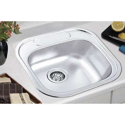 "Ukinox 18.88"" x 18.88"" Drop-in Single Bowl Kitchen Sink"