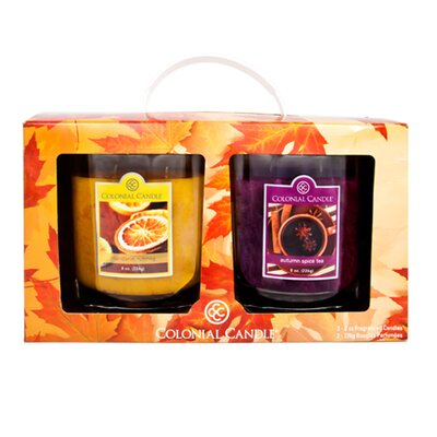 Colonial Candle Fall Jar Candle Gift (Set of 2)