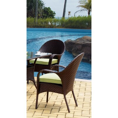 South Sea Rattan Bahia Bistro Wicker Dining Arm Chair
